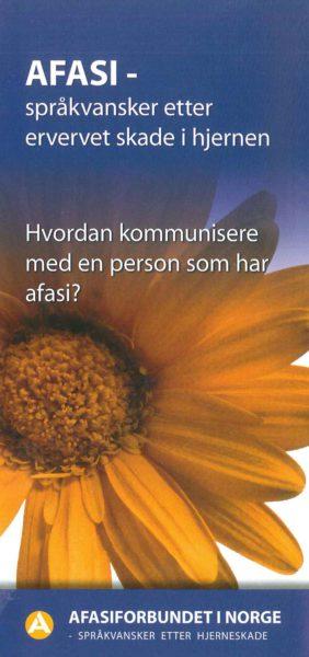 Folder: Afasi – språkvansker etter en ervervet skade i hjernen