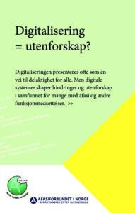 Flyer om digitalisering
